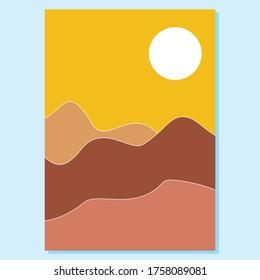 Boho design sunrise vector illustration