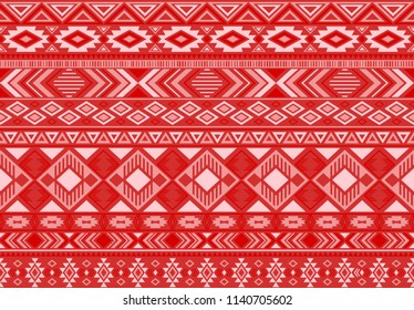 Boho pattern tribal ethnic motifs geometric seamless vector background. Chic indian tribal motifs clothing fabric textile print traditional design with triangle and rhombus shapes.