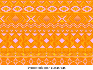 Boho pattern tribal ethnic motifs geometric seamless vector background. Fashionable boho tribal motifs clothing fabric textile print traditional design with triangle and rhombus shapes.