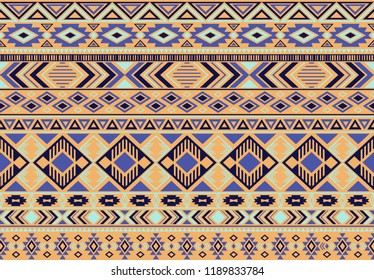 Boho pattern tribal ethnic motifs geometric seamless vector background. Trendy indonesian tribal motifs clothing fabric textile print traditional design with triangle and rhombus shapes.
