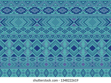 Boho pattern tribal ethnic motifs geometric seamless vector background. Abstract indonesian tribal motifs clothing fabric textile print traditional design with triangle and rhombus shapes.
