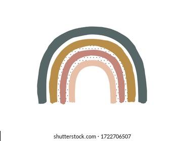 Boho rainbow for children's room wall decor, modern kids style