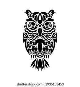 Boho style owl. Isolated. Vector illustration.