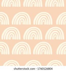 Boho style rainbow seamless pattern