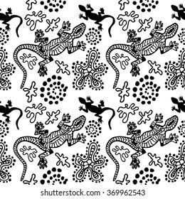 Bohemian style seamless pattern australian aboriginal stock vector.