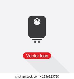 Boiler Icon, Water Heater Icon,Geyser Icon Vector Illustration Eps10