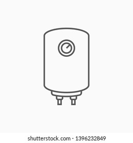 boiler icon, water heater vector