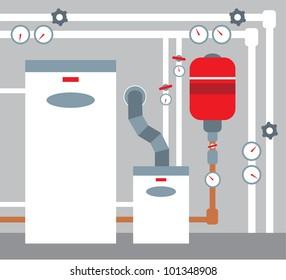 Boiler room. vector