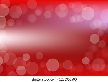 Bokeh background vector designed in in red color and soft light; art bokeh illustrationin red.