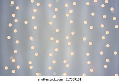 Bokeh christmas lights. Vector bokeh lights. Abstract garland bokeh. Vector garland lights.