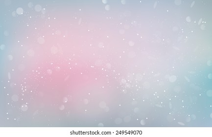 Bokeh light blurry romantic background. Holiday magic shiny wallpaper poster banner card