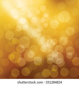 Bokeh yellow background