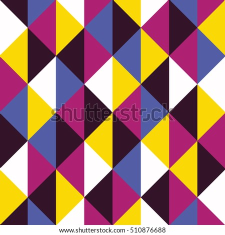 ff63fa31814 Bold colors pop art triangle pattern. Abstract geometric design background.