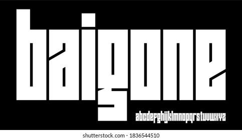 BOLD CONDENSED URBAN DISPLAY FONT ALPHABET VECTOR - Shutterstock ID 1836544510