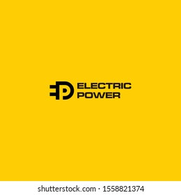 Bold, creative and modern logo design of electric power and eco energy with clear background - EPS10 - Vector.