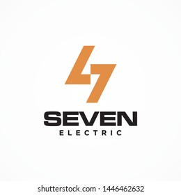 Bold and strong logo design concept that represent the letter S and lighting bolt - vector.