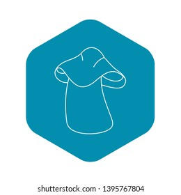 Boletus icon. Outline illustration of boletus vector icon for web