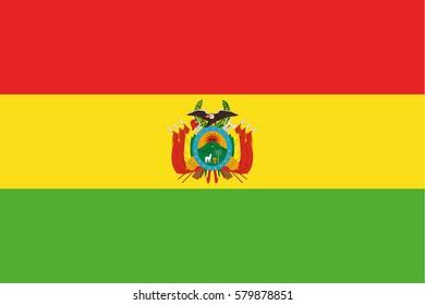 Bolivia flag vector