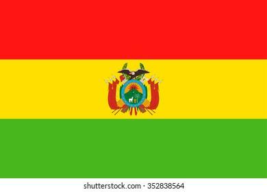 Bolivia Flag - Vector Illustration Vector Illustration of Bolivia Flag Icon