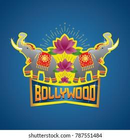 Bollywood Logo with Elephants
