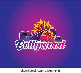 Bollywood Modern Logo with cinema reel