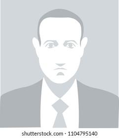 Bologna, Italy, June 2018, Mark Zuckerberg vector illustration