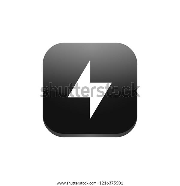 Bolt App Icon Stock Vector Royalty Free 1216375501