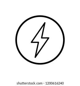 bolt - electricity - energy icon vector