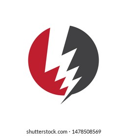 Bolt icon Vector Illustration design Logo template