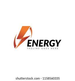 bolt thunder energy logo icon vector template