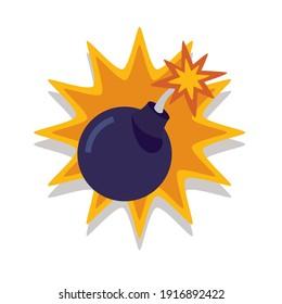 bomb explosive casino figure slots icon vector illustration design