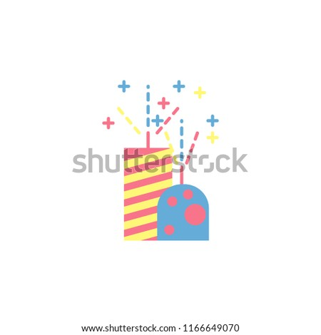 Bomb Fireworks Icon Element Diwali Holiday Stock Vector (Royalty