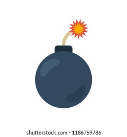 Bomb flat icon. You can be used bomb icon for several purposes like: websites, UI, UX, print templates, promotional materials, info-graphics, web and mobile phone apps.
