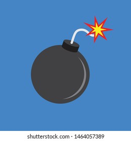 Bomb icon in flat style, vector illustration.