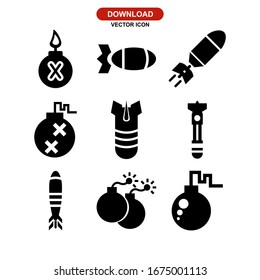 bomb icon or logo isolated sign symbol vector illustration - Collection of high quality black style vector icons