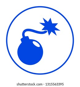 Bomb icon. Vector illustration