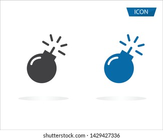 Bomb icon vector isolated on white background.
