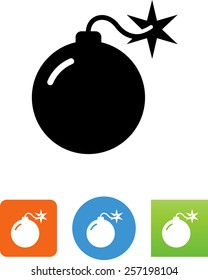 Bomb with lit fuse icon