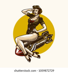 bomb pin up girl
