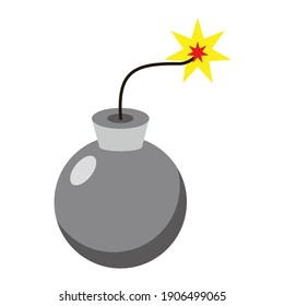 bomb rounded ready to exploded vector design