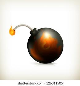 Bomb, vector icon
