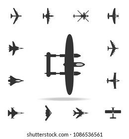 bombardment lockheed plane icon. Detailed set of army plane icons. Premium graphic design. One of the collection icons for websites, web design, mobile app on white background