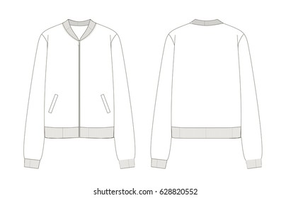 bomber jacket technical sketch