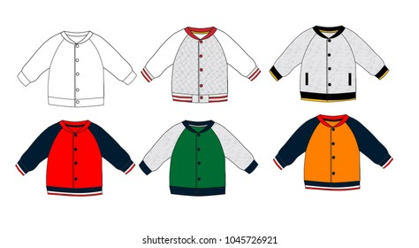 Bomber Jacket template design,baby cloth