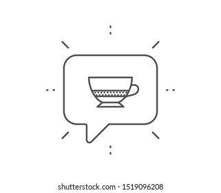 Bombon coffee icon. Chat bubble design. Hot drink sign. Beverage symbol. Outline concept. Thin line bombon coffee icon. Vector