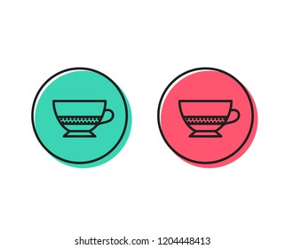 Bombon coffee icon. Hot drink sign. Beverage symbol. Positive and negative circle buttons concept. Good or bad symbols. Bombon coffee Vector