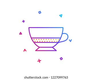 Bombon coffee icon. Hot drink sign. Beverage symbol. Gradient line button. Bombon coffee icon design. Colorful geometric shapes. Vector