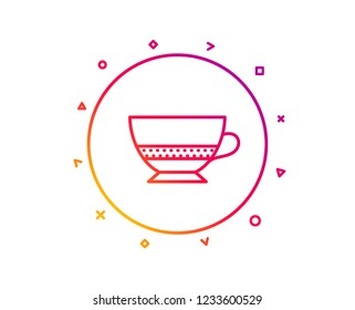 Bombon coffee icon. Hot drink sign. Beverage symbol. Gradient pattern line button. Bombon coffee icon design. Geometric shapes. Vector