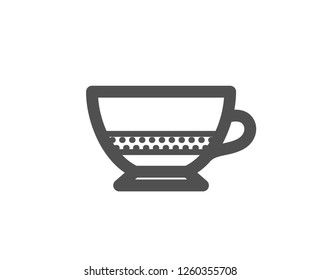 Bombon coffee icon. Hot drink sign. Beverage symbol. Quality design element. Classic style icon. Vector