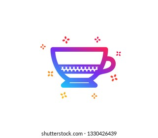 Bombon coffee icon. Hot drink sign. Beverage symbol. Dynamic shapes. Gradient design bombon coffee icon. Classic style. Vector